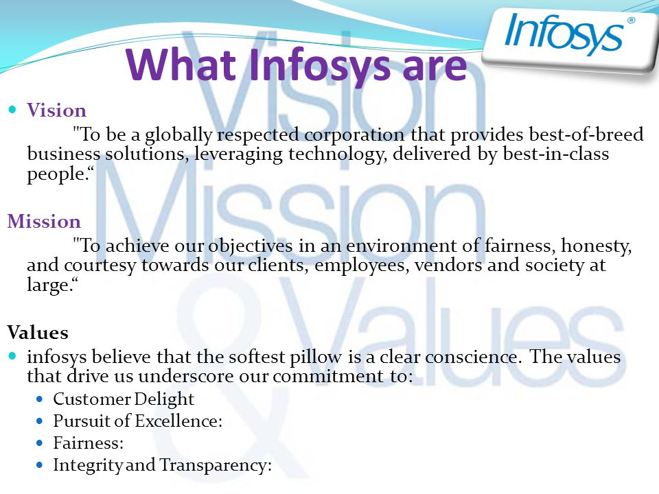 What Infosys are Vision