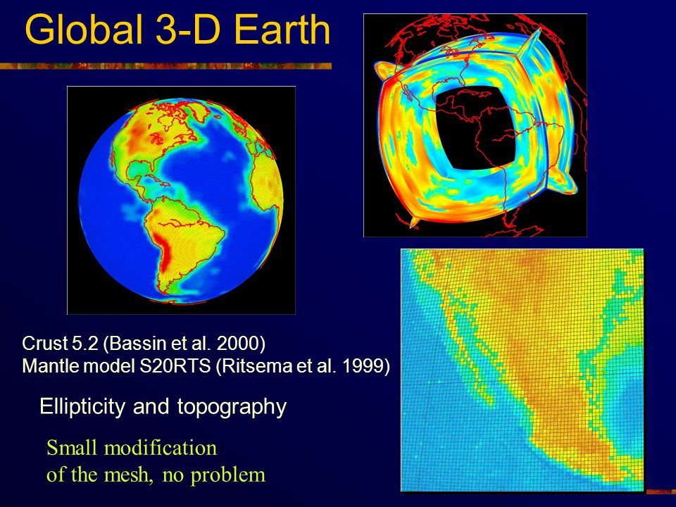 Global 3-D Earth Ellipticity and topography Small modification