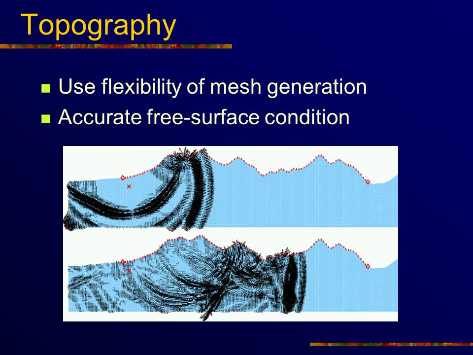 Topography Use flexibility of mesh generation
