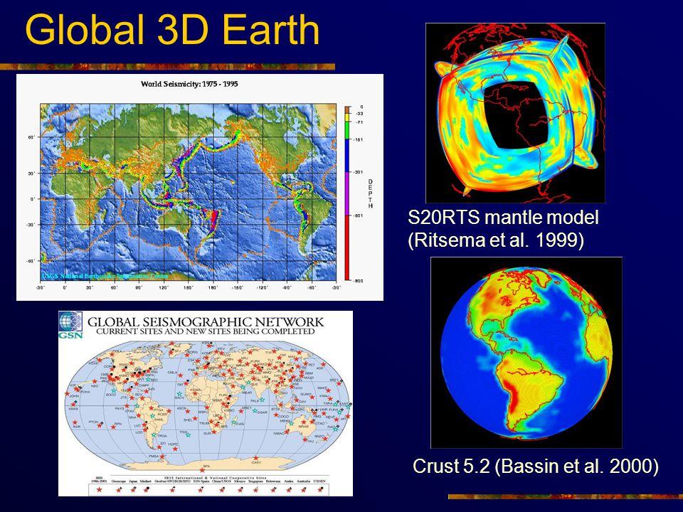 Global 3D Earth S20RTS mantle model (Ritsema et al. 1999)