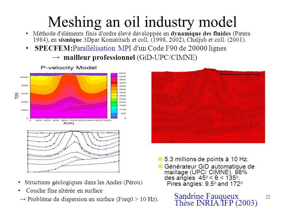 Meshing an oil industry model