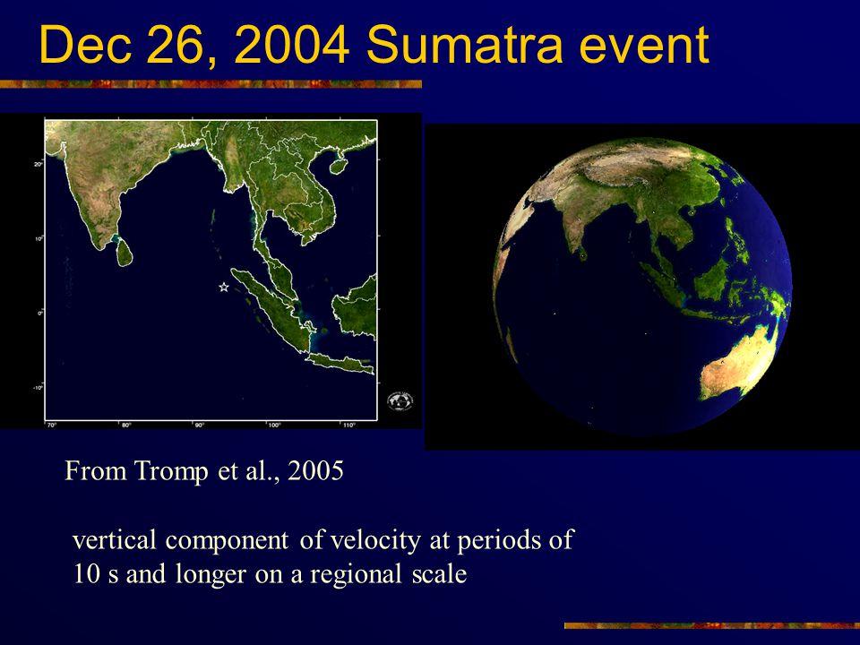 Dec 26, 2004 Sumatra event From Tromp et al., 2005