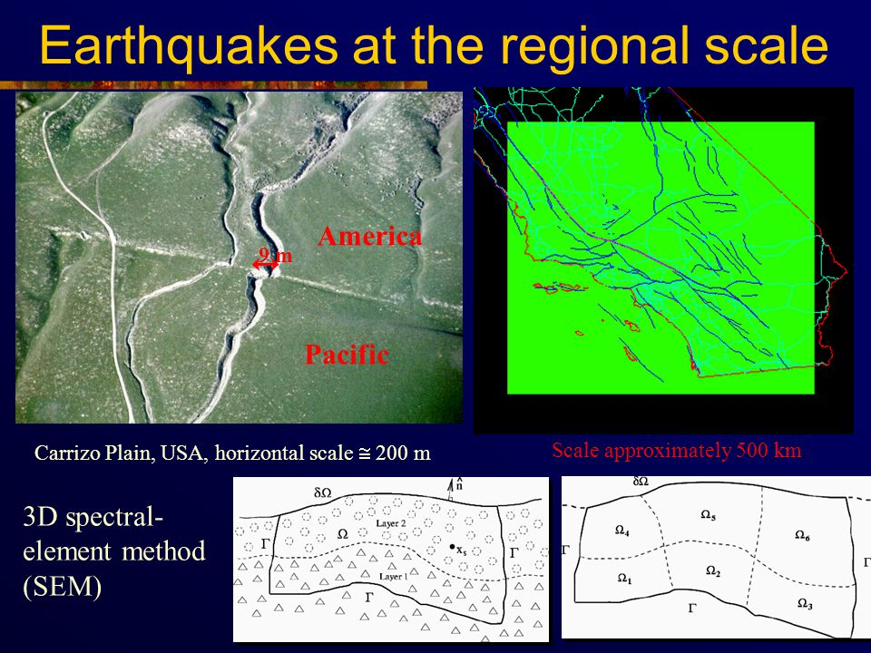 Earthquakes at the regional scale