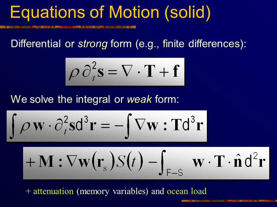 Equations of Motion (solid)