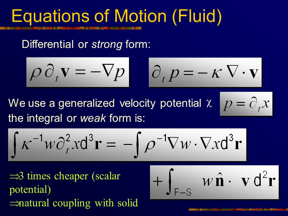 Equations of Motion (Fluid)