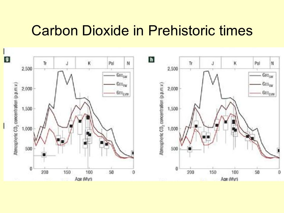 Carbon Dioxide in Prehistoric times
