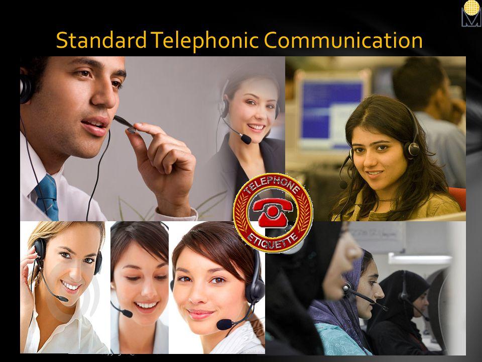 Standard Telephonic Communication