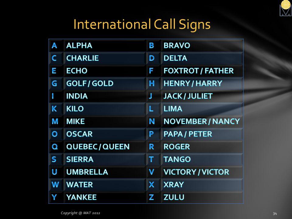 International Call Signs