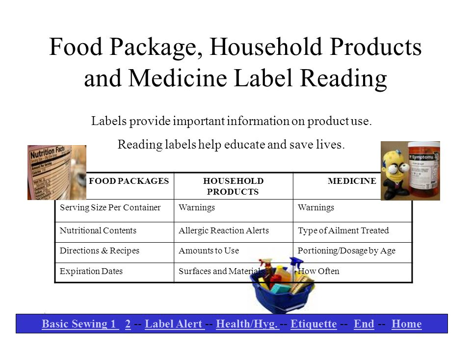 Food Package, Household Products and Medicine Label Reading