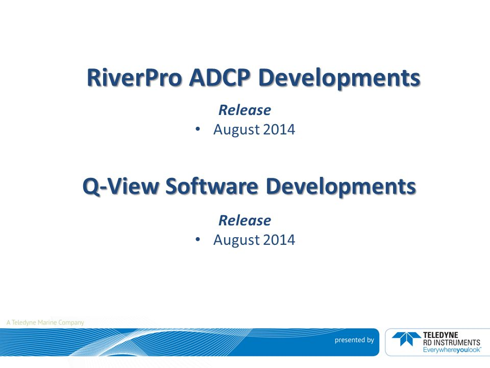 RiverPro ADCP Developments
