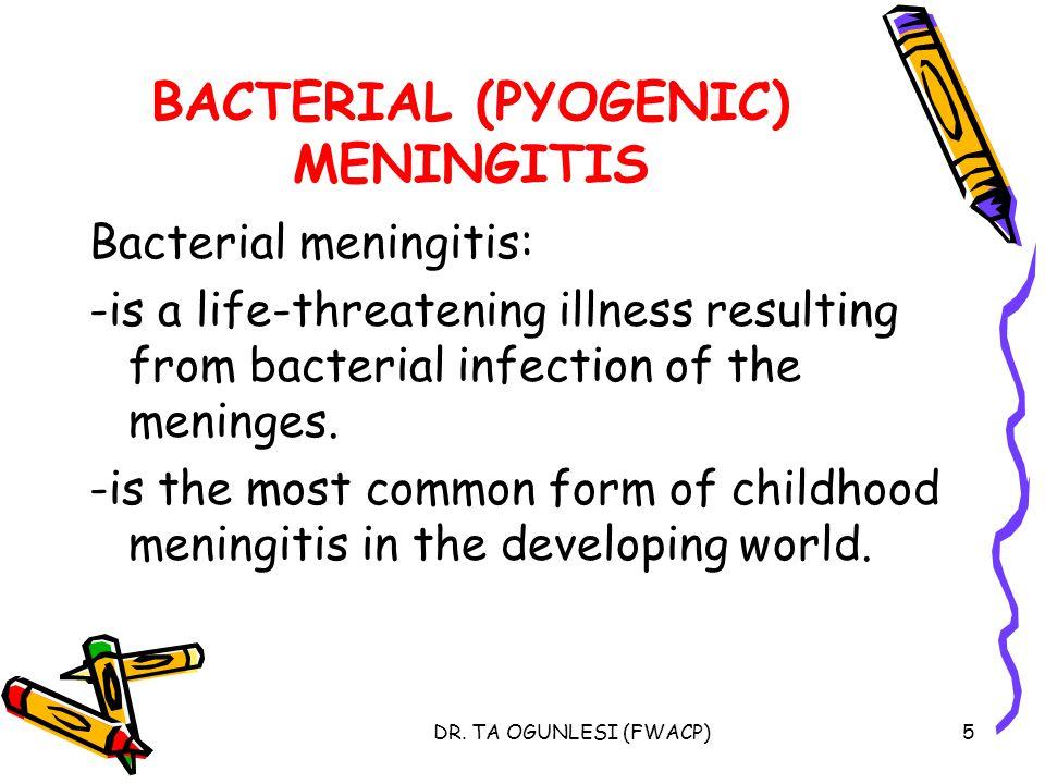 BACTERIAL (PYOGENIC) MENINGITIS