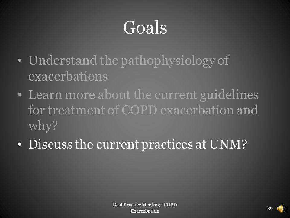 Best Practice Meeting - COPD Exacerbation