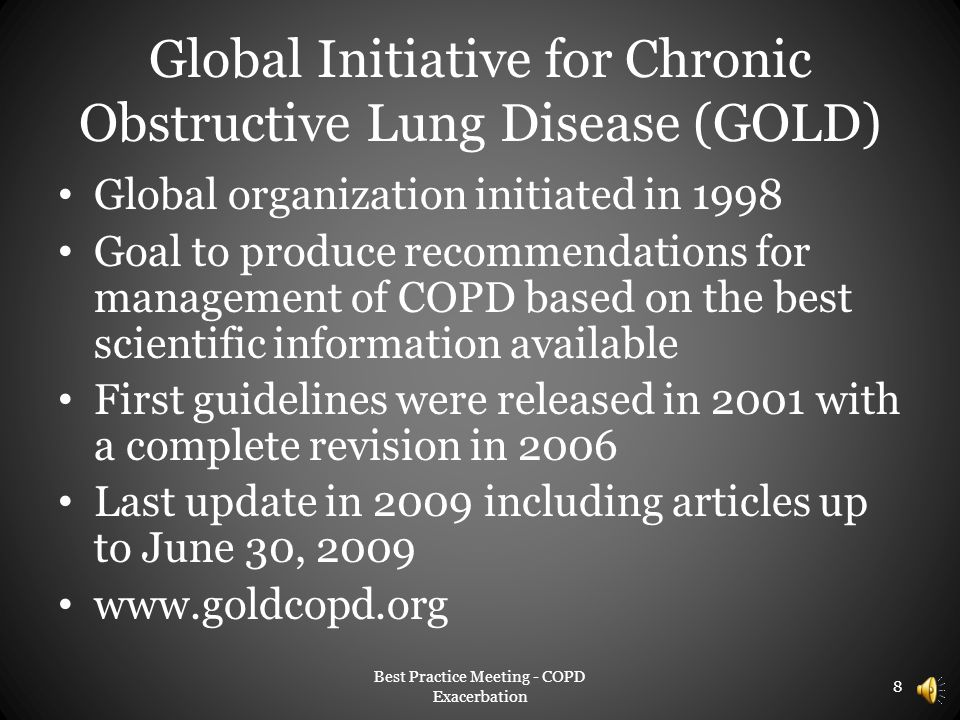 Global Initiative for Chronic Obstructive Lung Disease (GOLD)