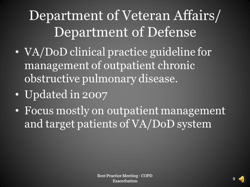Department of Veteran Affairs/ Department of Defense