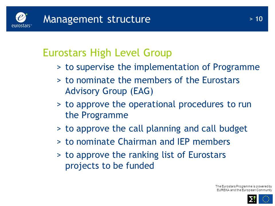 Eurostars High Level Group