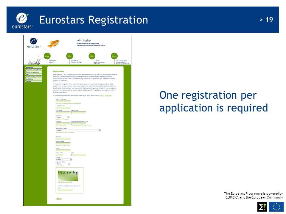 Eurostars Registration