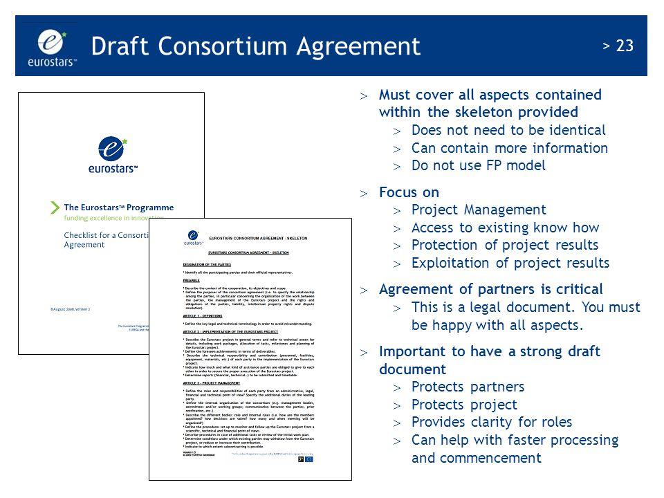 Draft Consortium Agreement