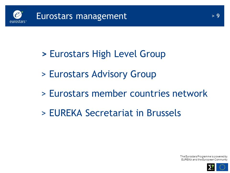 > Eurostars High Level Group > Eurostars Advisory Group