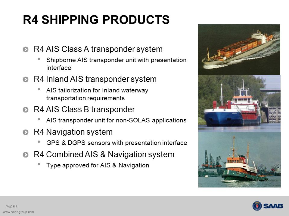 R4 SHIPPING PRODUCTS R4 AIS Class A transponder system