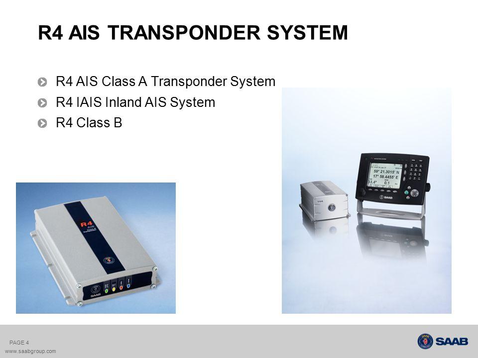 R4 AIS TRANSPONDER SYSTEM