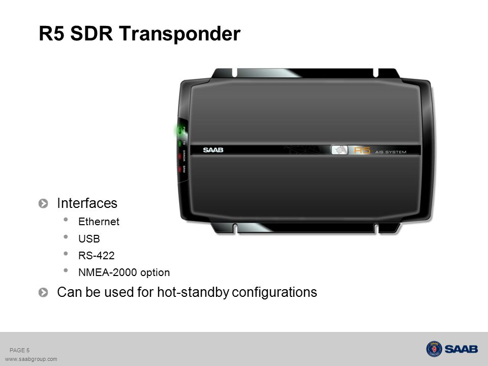 R5 SDR Transponder Interfaces