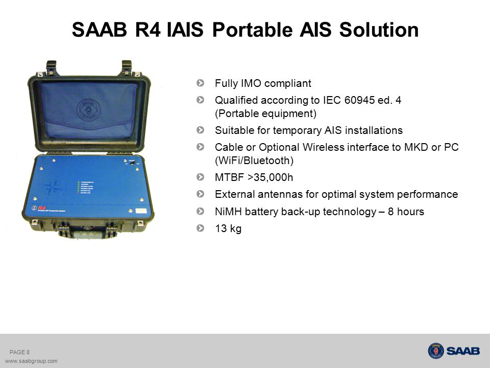 SAAB R4 IAIS Portable AIS Solution