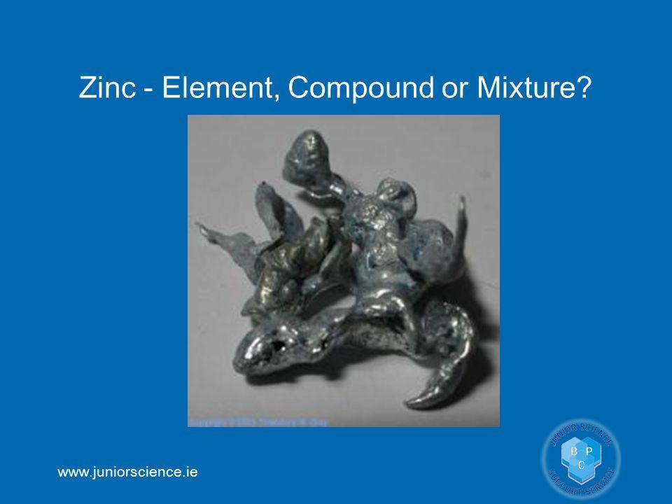 Zinc - Element, Compound or Mixture