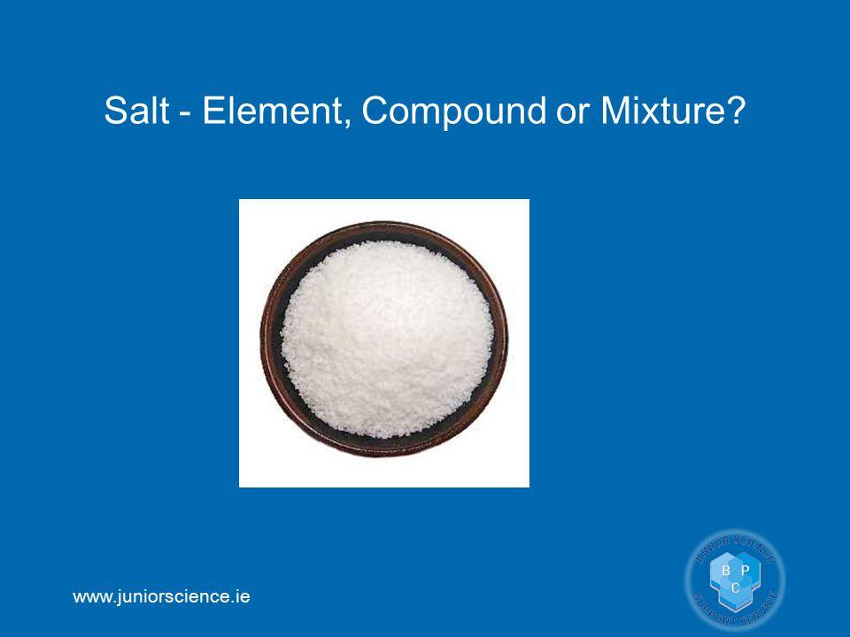 Salt - Element, Compound or Mixture