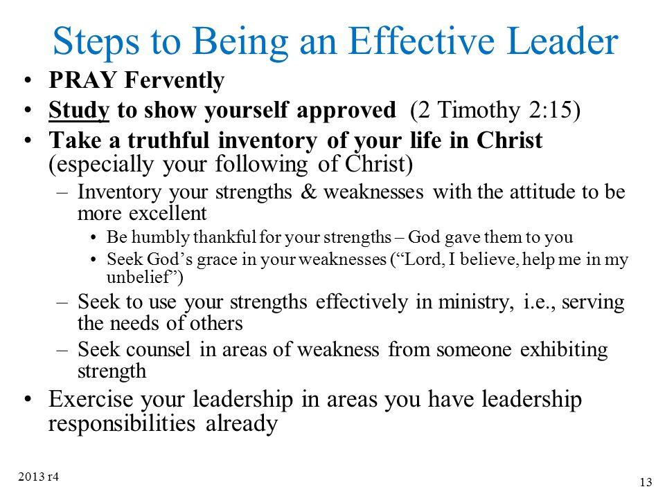 Steps to Being an Effective Leader