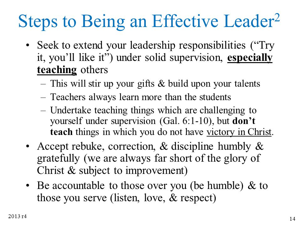Steps to Being an Effective Leader2