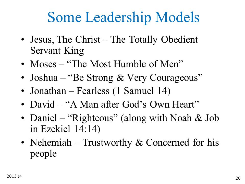 Some Leadership Models