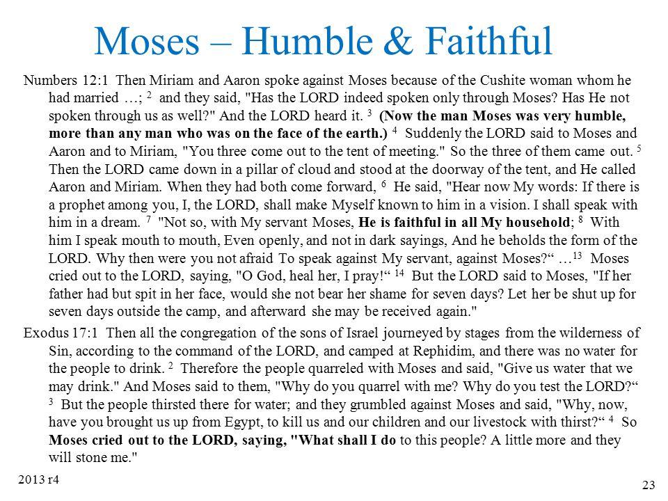 Moses – Humble & Faithful