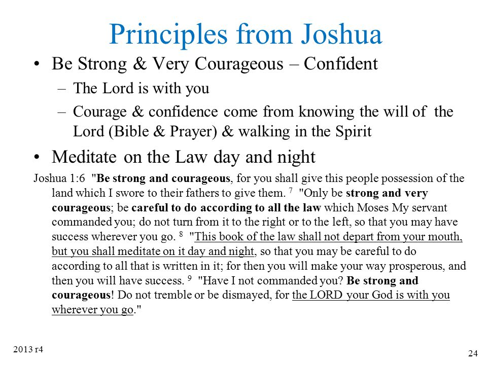 Principles from Joshua