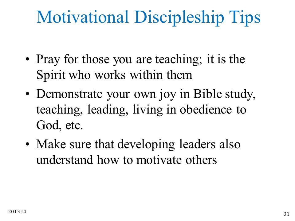 Motivational Discipleship Tips