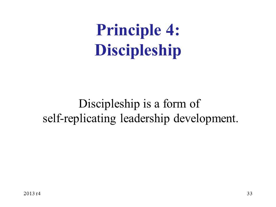 Principle 4: Discipleship