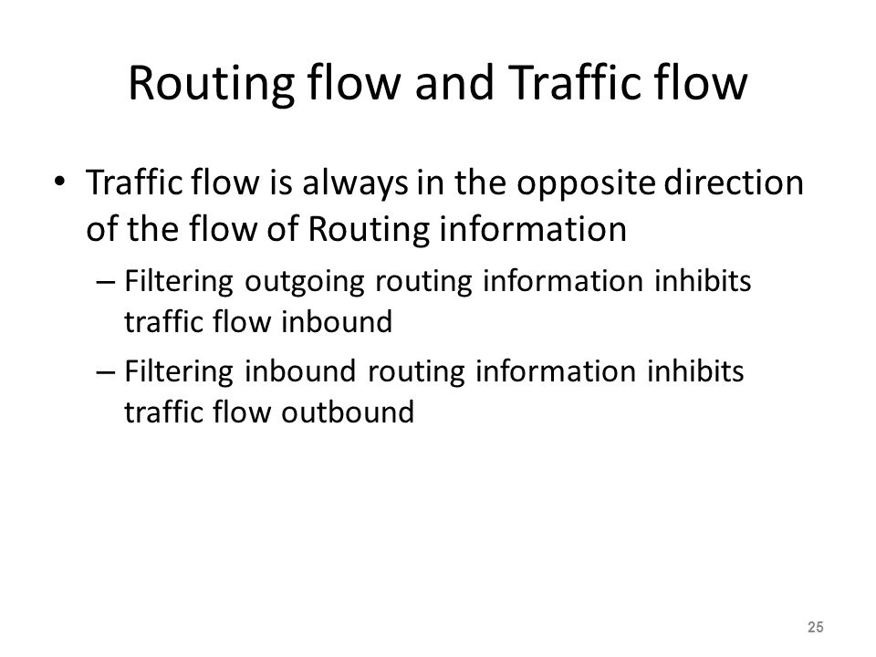 Routing flow and Traffic flow