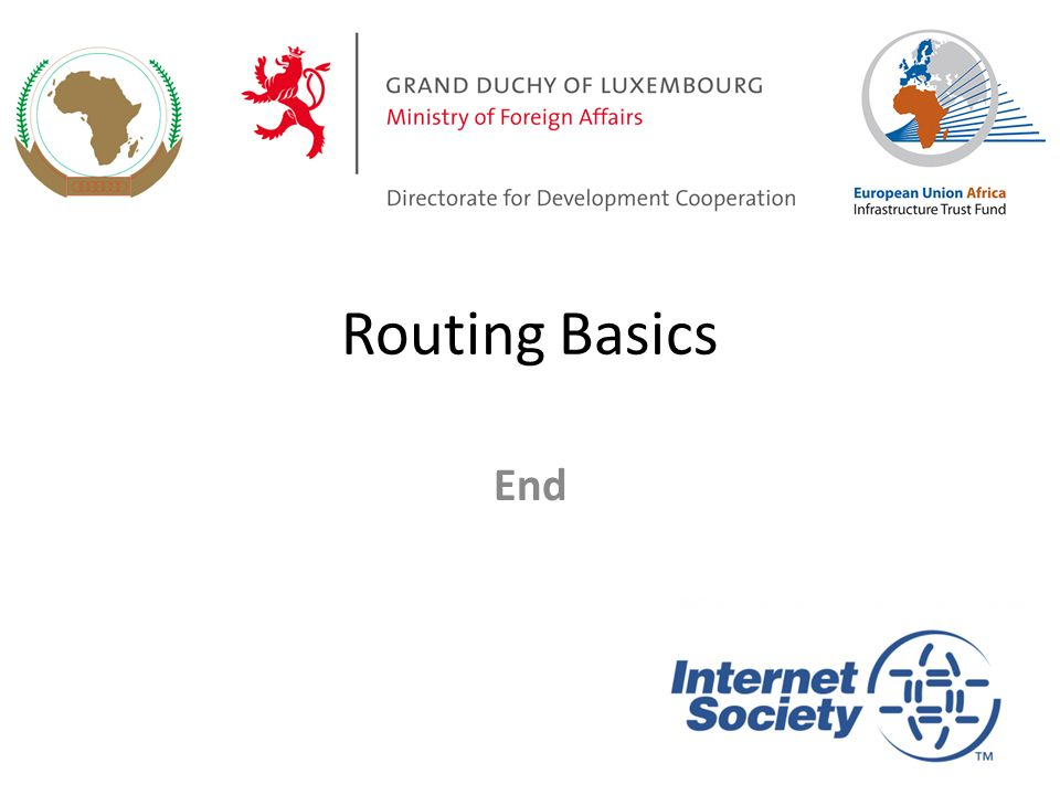 Routing Basics End
