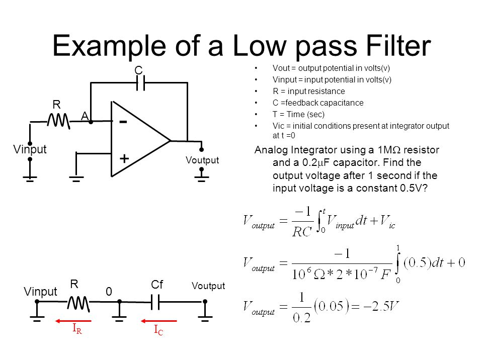 Example of a Low pass Filter