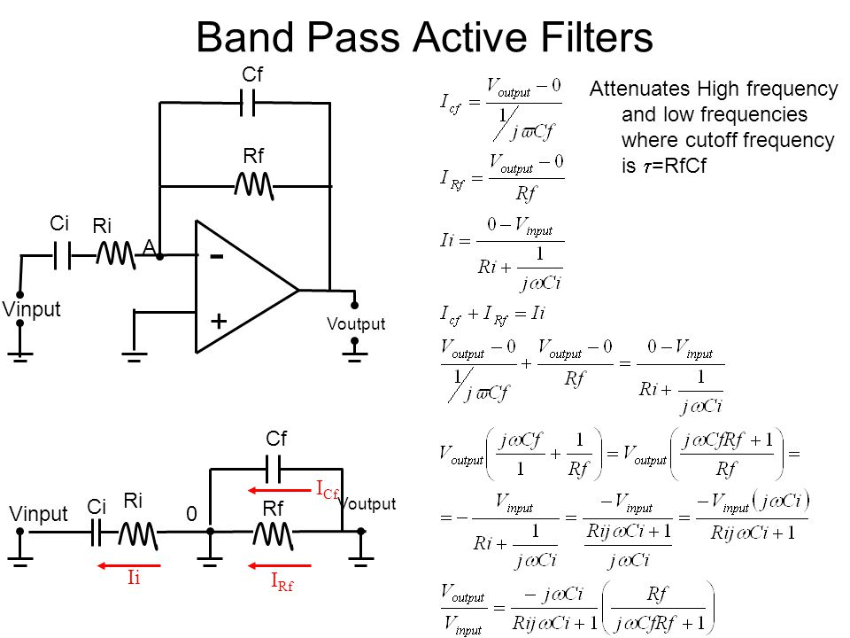 Band Pass Active Filters