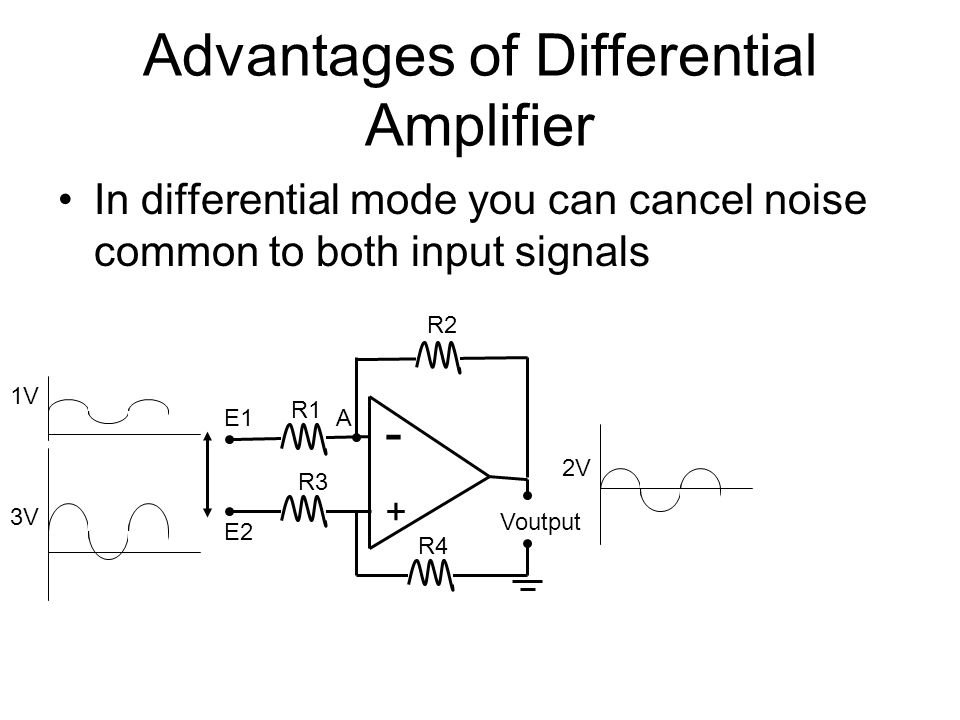 Advantages of Differential Amplifier