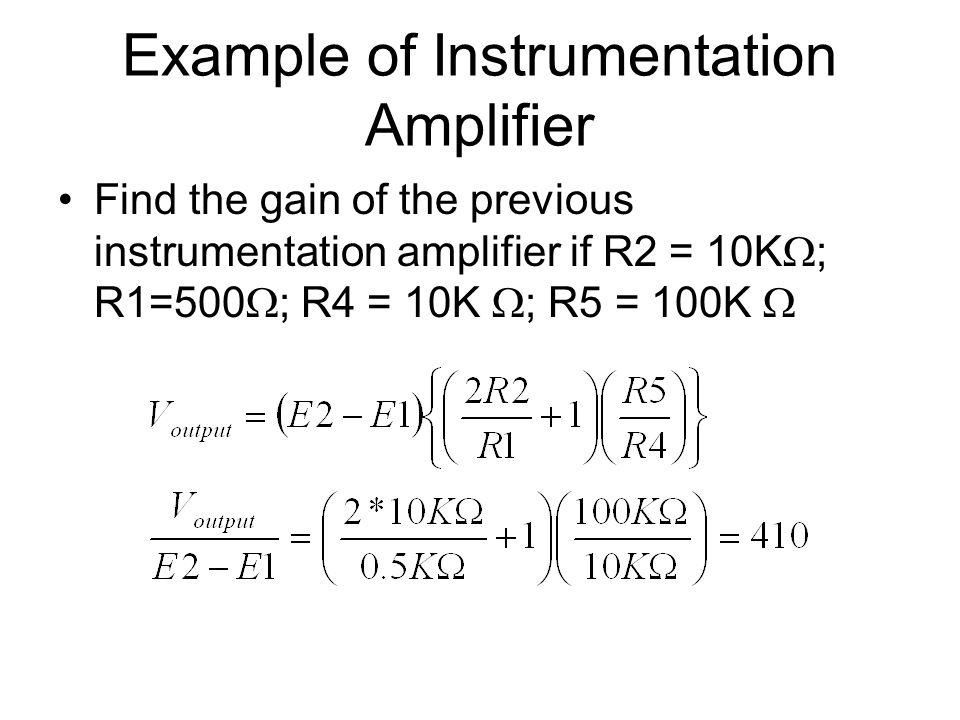 Example of Instrumentation Amplifier
