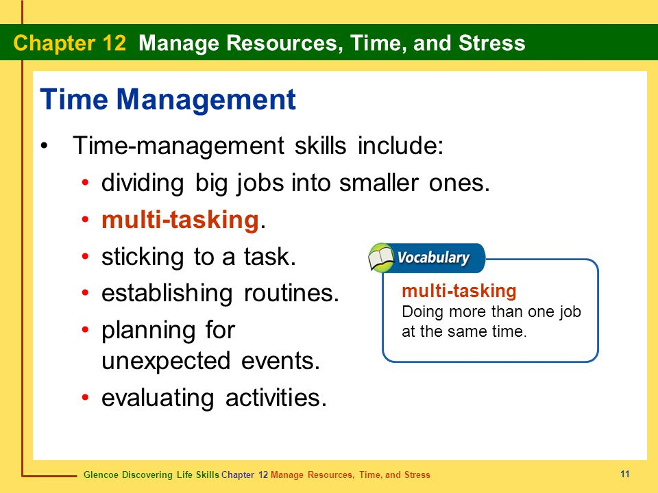 Time Management Time-management skills include: