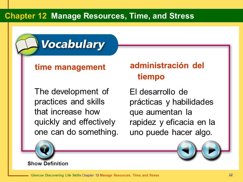 administración del tiempo time management