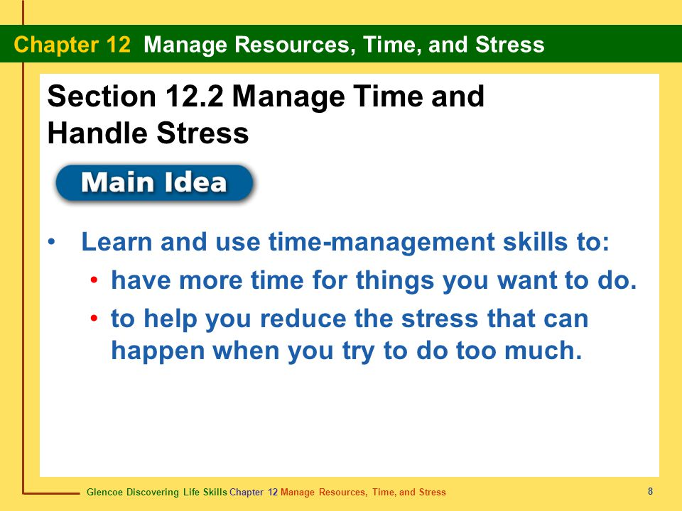 Section 12.2 Manage Time and Handle Stress
