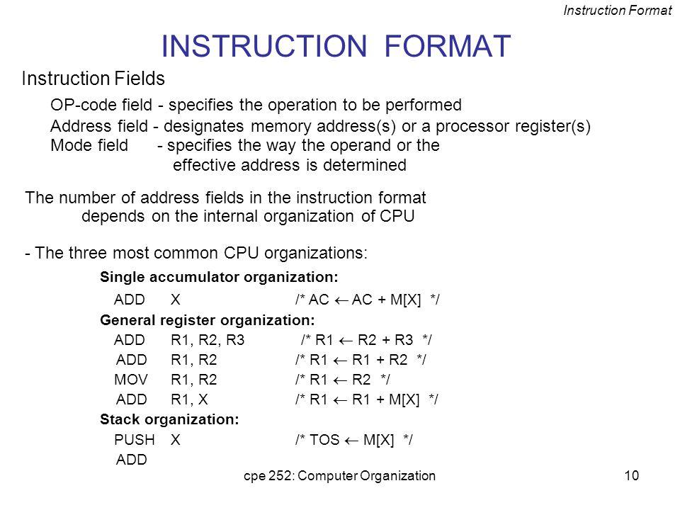 cpe 252: Computer Organization