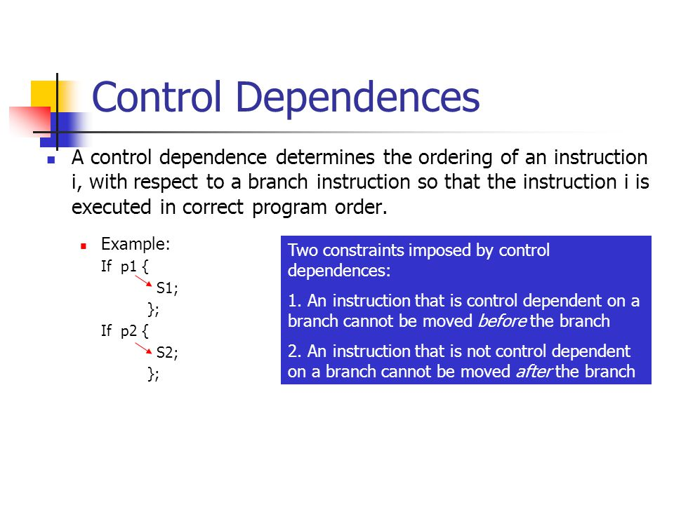 Control Dependences