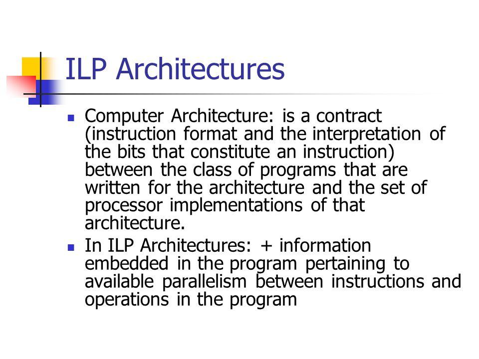 ILP Architectures
