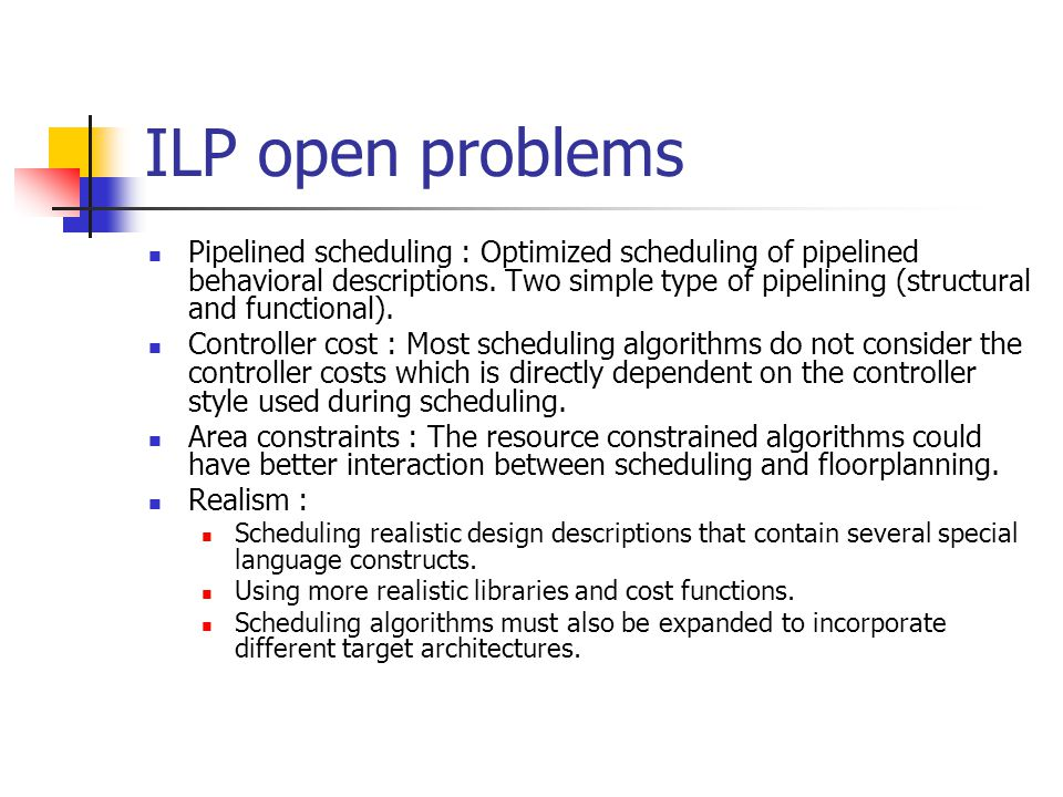 ILP open problems