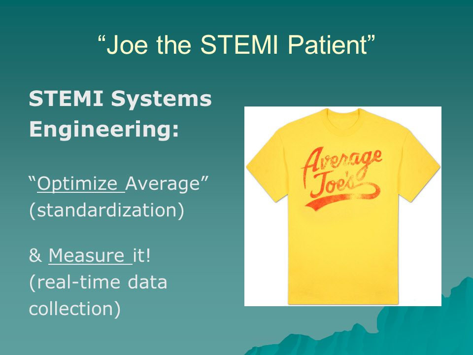 Joe the STEMI Patient