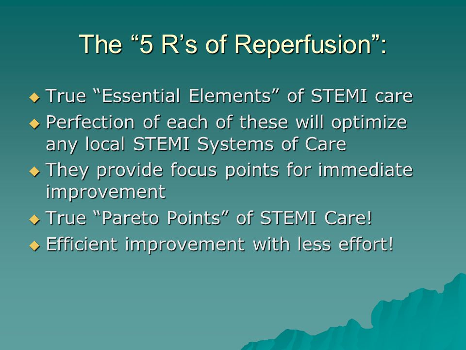 The 5 R's of Reperfusion :